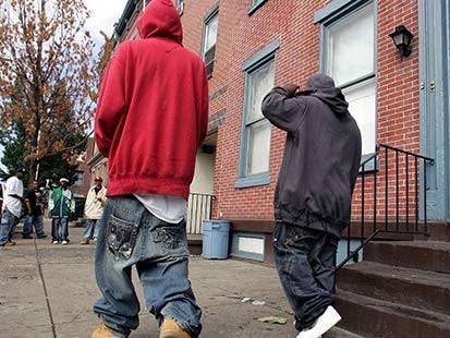 Thug Black Boys with Sagging Pants